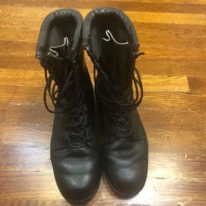 Black Bates Ankle Genuine Leather Boots  Size 5RW